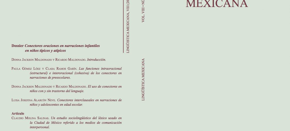 Nuevo número de Lingüística Mexicana (vol. VIII, 2, 2016)