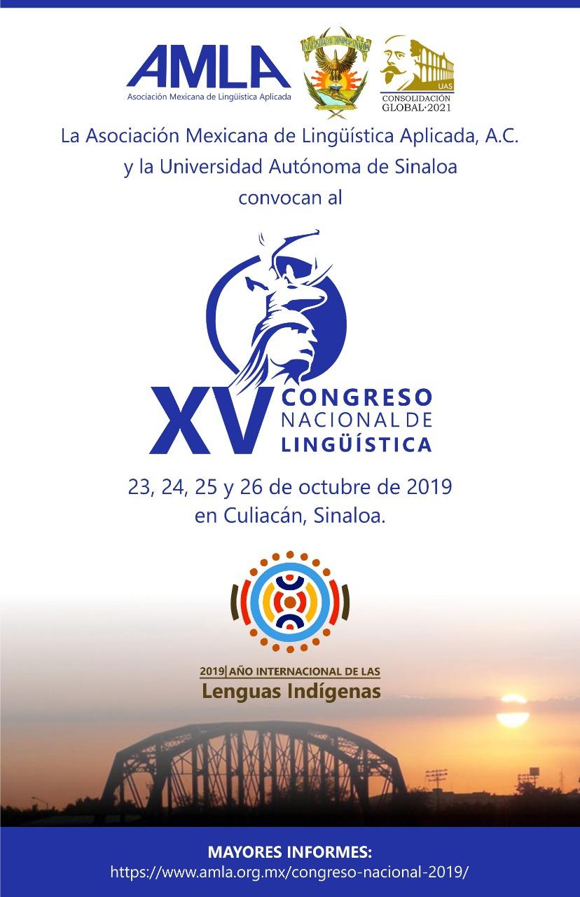XV Congreso nacional de Lingüística AMLA
